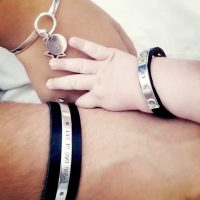 Stoere papa armband, Birth bracelet en Hermes armband