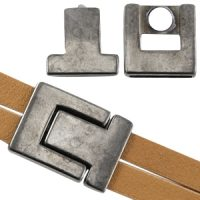 Aiden bracelet gunmetal lock